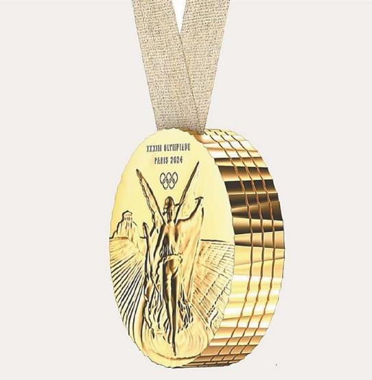 巴黎奥运会奖牌设计创意新颖 1枚奖牌可以拆分成4块